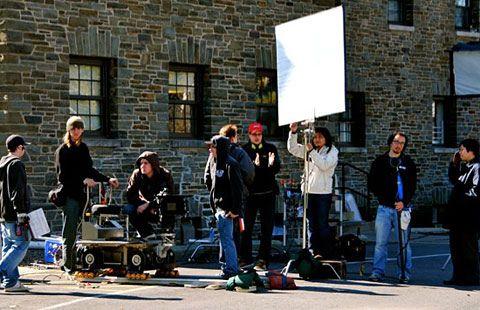 Film crew on campus by colgateuniversity, via Flickr