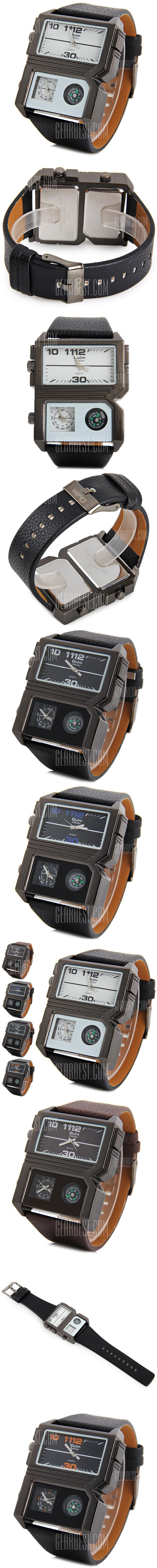 Oulm 3561 Compass Military Sports Watch Double Movt Male Wristwatch - FREE SHIPPING - Price: $10.42 - Buy Now: https://ariani-shop.com/s/121845
