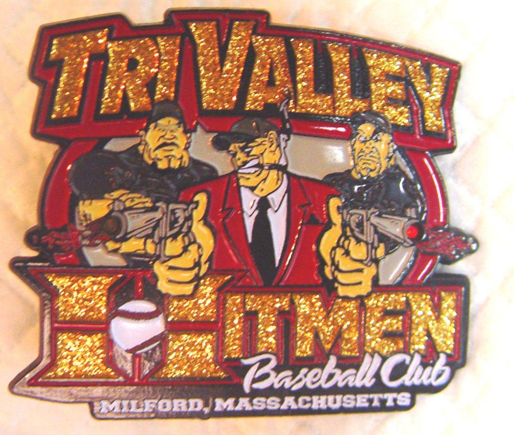 Hitmen Baseball Club Milford Massachusetts Tri Valley Metal Hat Lapel Tradingpin Tri Baseball Lapel
