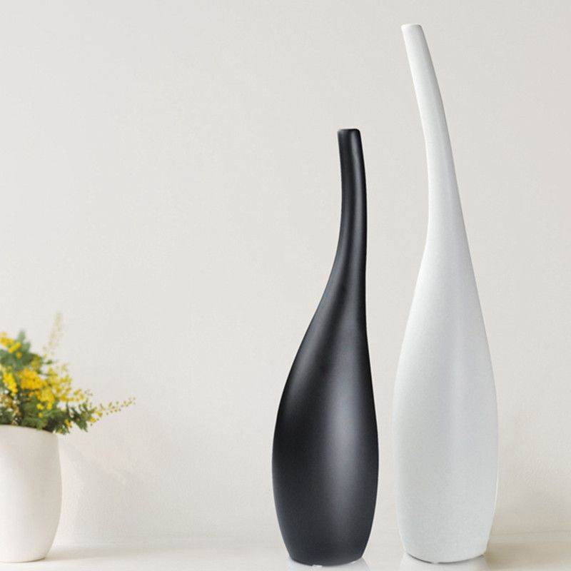 Buy Fashion Ceramic Fashion Modern Decoration Home Decoration Crafts Decorative  Vase Black And White Classic Wedding