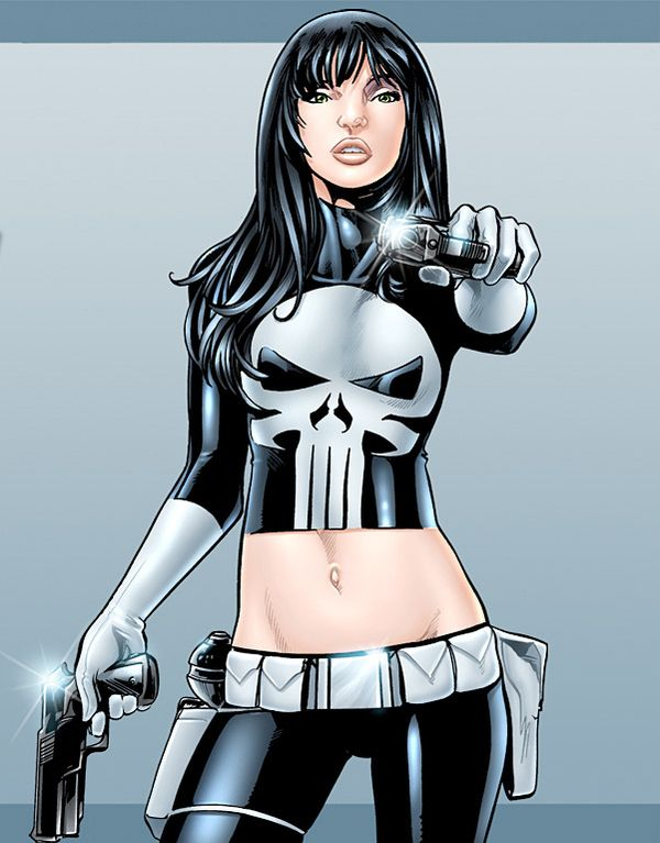 Superhero Gender Reversal Female Comic Characters Female Superhero Punisher Cosplay