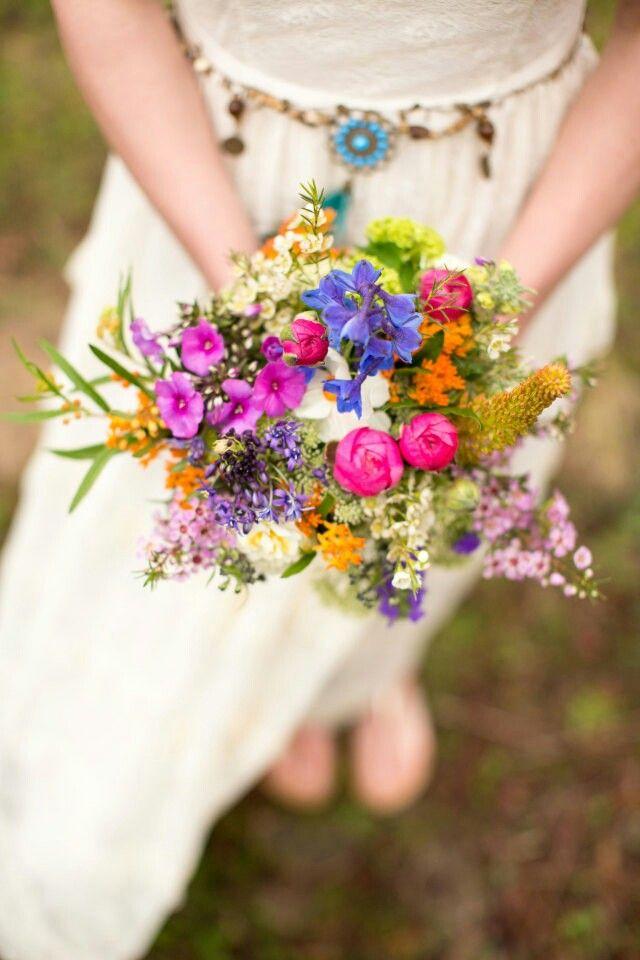 Feld und Wiesenstrau Brautstrau Hochzeit  Hochzeit