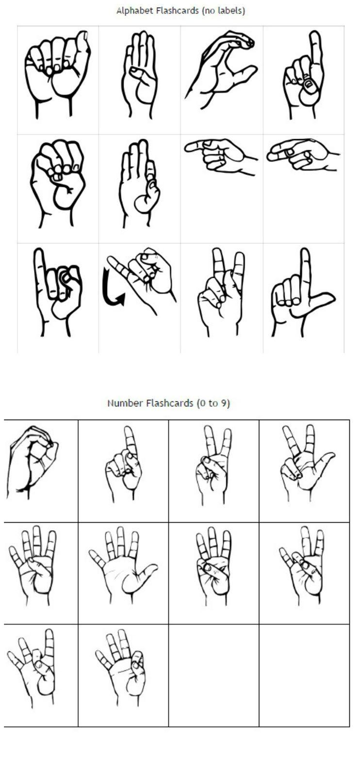 Nice Free Printable Sign Language Flash Cards Photos >> Baby Sign ...