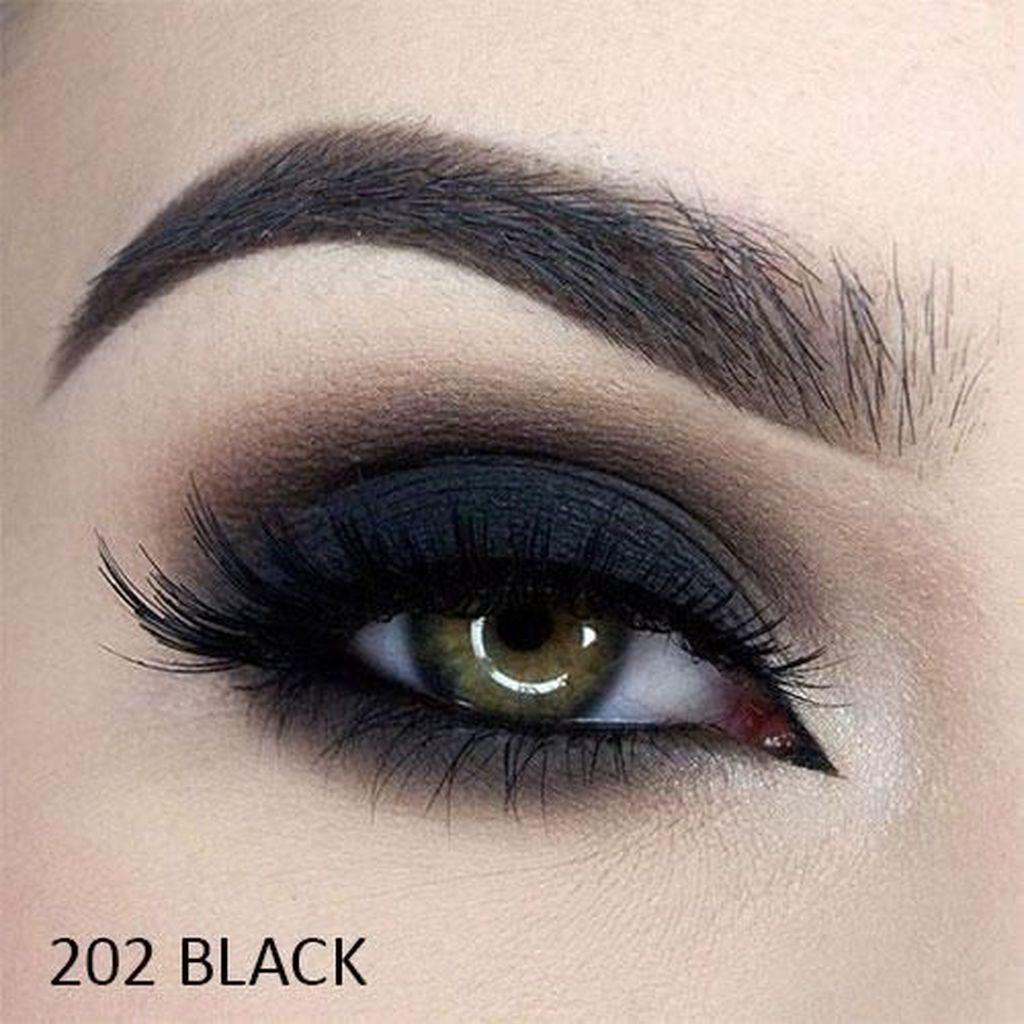 40 Cute Smokey Eye Makeup For College Black Makeup Tutorial Eye Makeup Dark Eye Makeup