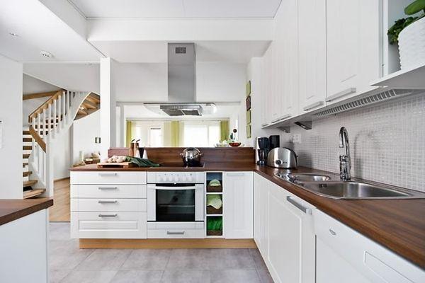 moderne Einrichtungsidee Küche gestalten-skandinavisch | Offene ... | {Landhausküche skandinavisch 18}