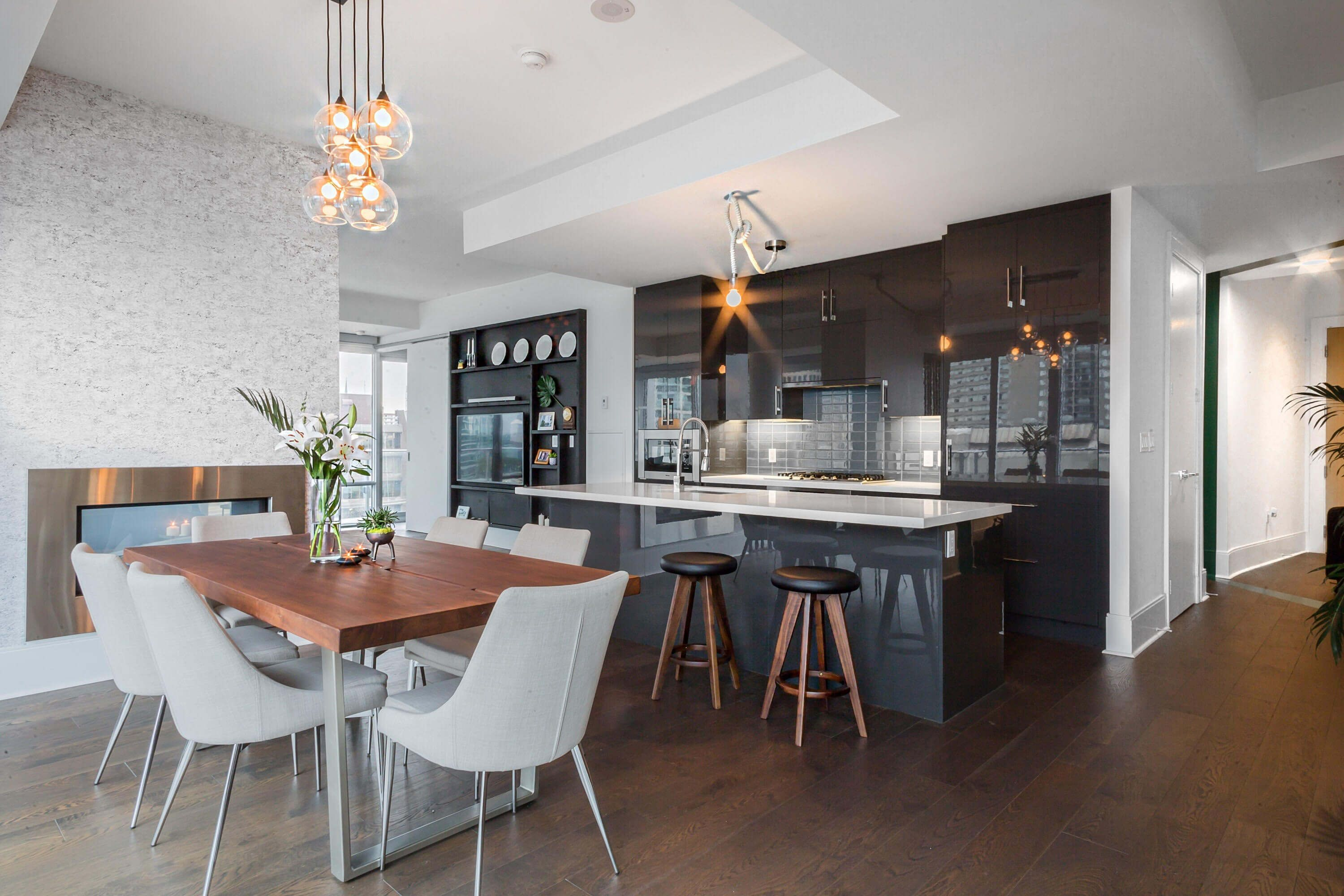 #Dining #Room #Kitchen #Wood #Chairs #Grey #Brown #Interiors
