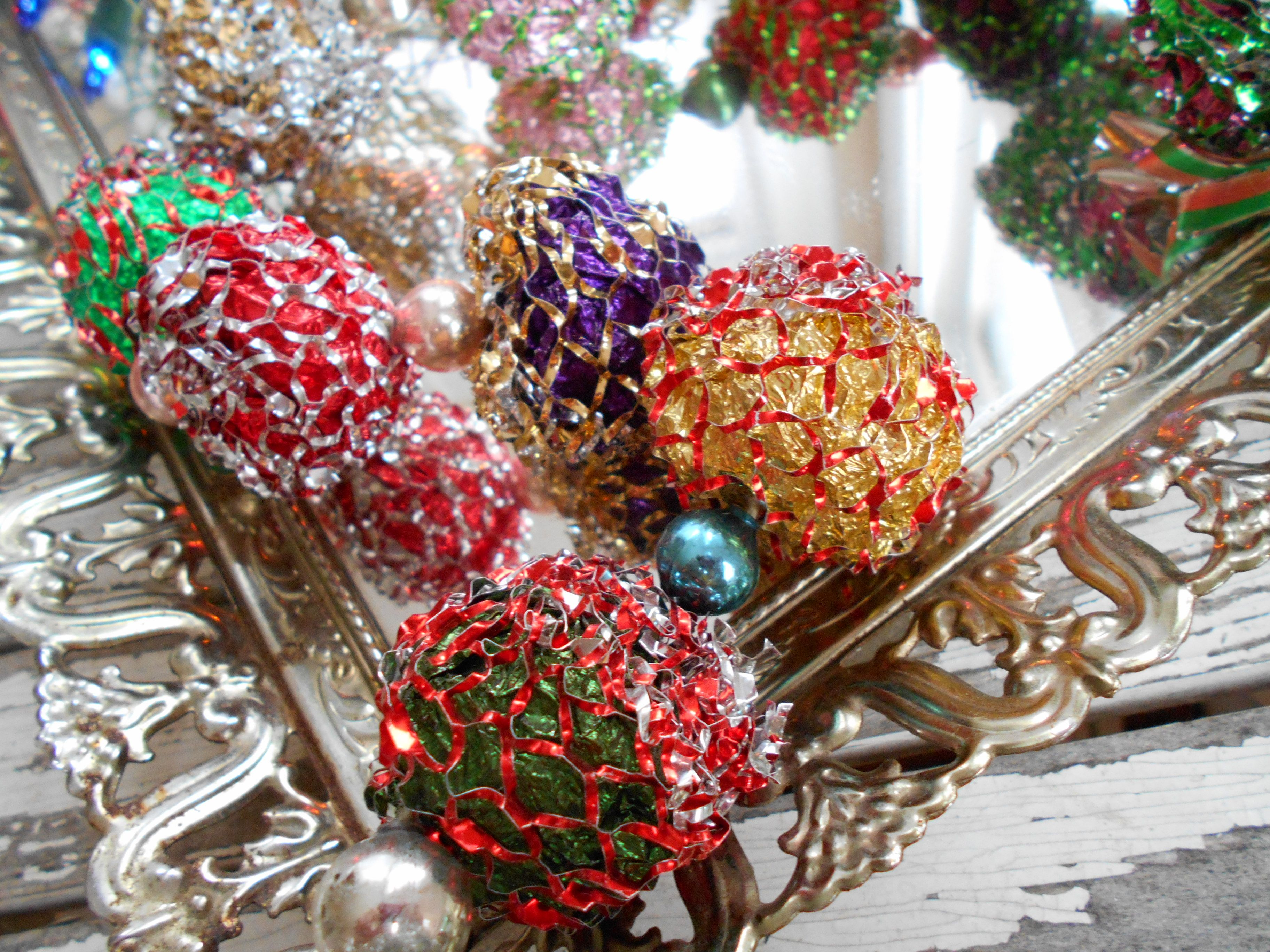 amazing aluminum tree garland mercury glass ebay seller m verdi