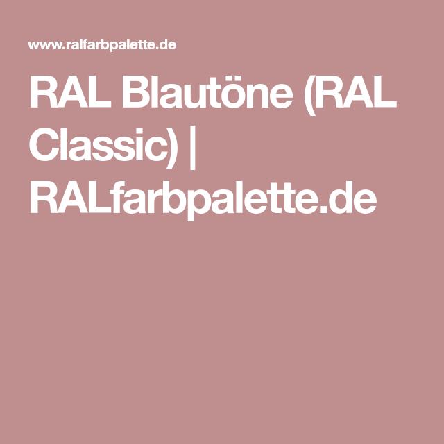 RAL Blautöne (RAL Classic)