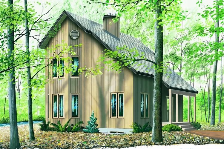 House Plan 034 00536 Contemporary Plan 1 290 Square Feet 2 Bedrooms 1 5 Bathrooms Modern Style House Plans Saltbox Houses Contemporary House Plans