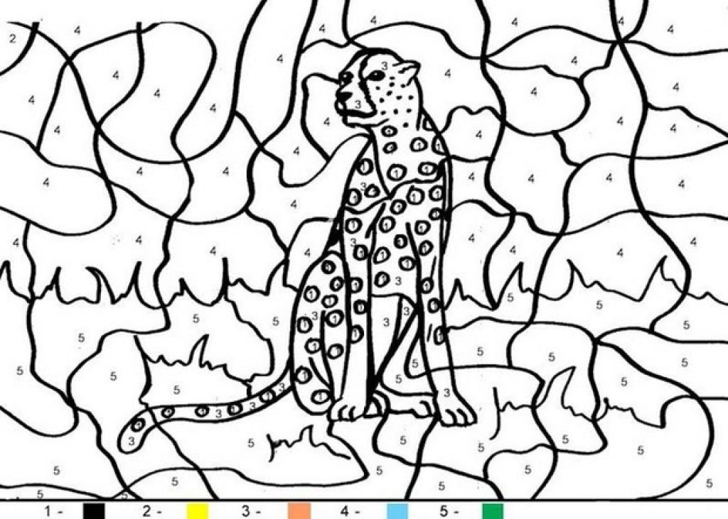 Kids Cheetah Animal Color By Number Coloring Pages Letscolorit Com Coloring Pages Super Coloring Pages Christmas Coloring Pages