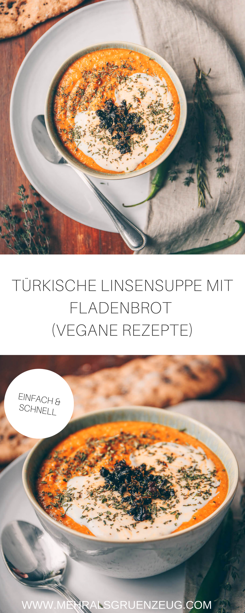 Türkische Linsensuppe #veganerezepte
