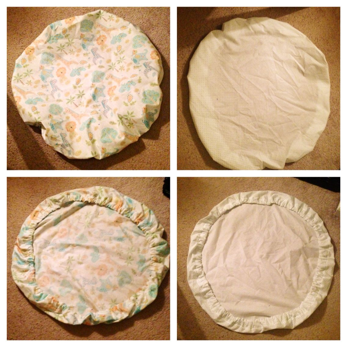 Diy Round Bassinet Fitted Sheet Could Not Find Any Cute Ones Online So I Bought Fabric And Used This Tutorial To Make Baby Crib Diy Baby Cribs Round Bassinet
