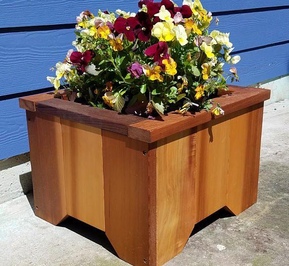 Premium Handcrafted Western Red Cedar Patio Planter