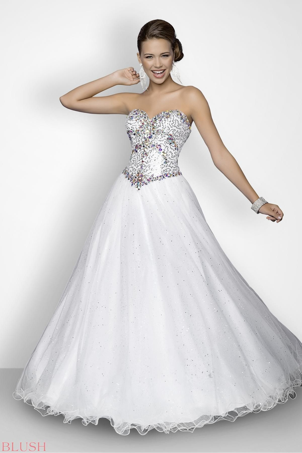 Mini white wedding dress  Beaded stones rock in this sexy prom dress Gorgeous jewels and mini