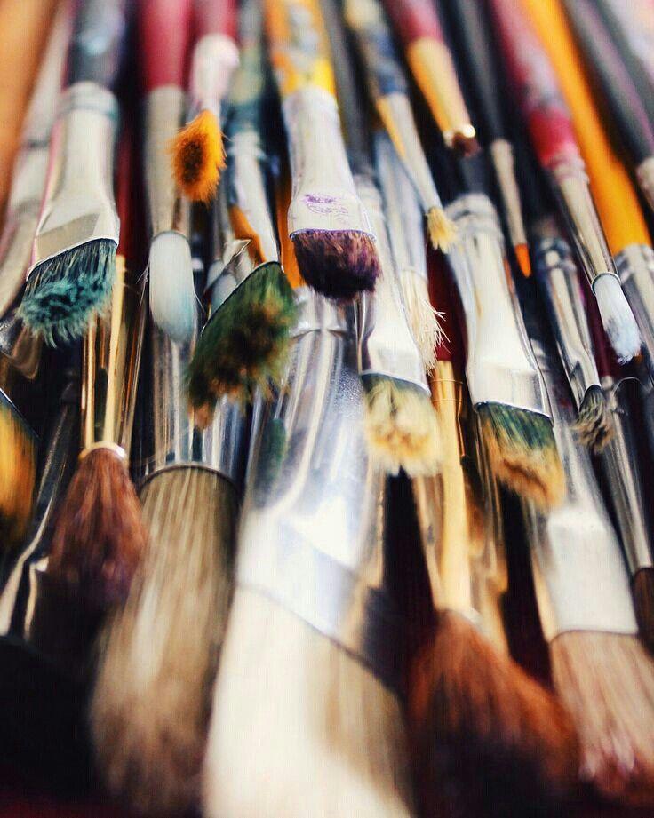 Brushes Artist aesthetic, Art studios, Paint brushes