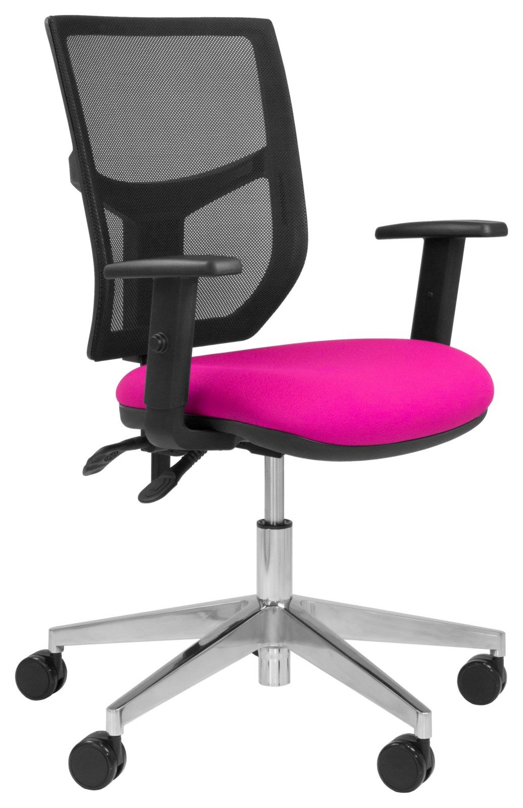 Team Plus Mesh Operator Chair (Polished Base) with Arms
