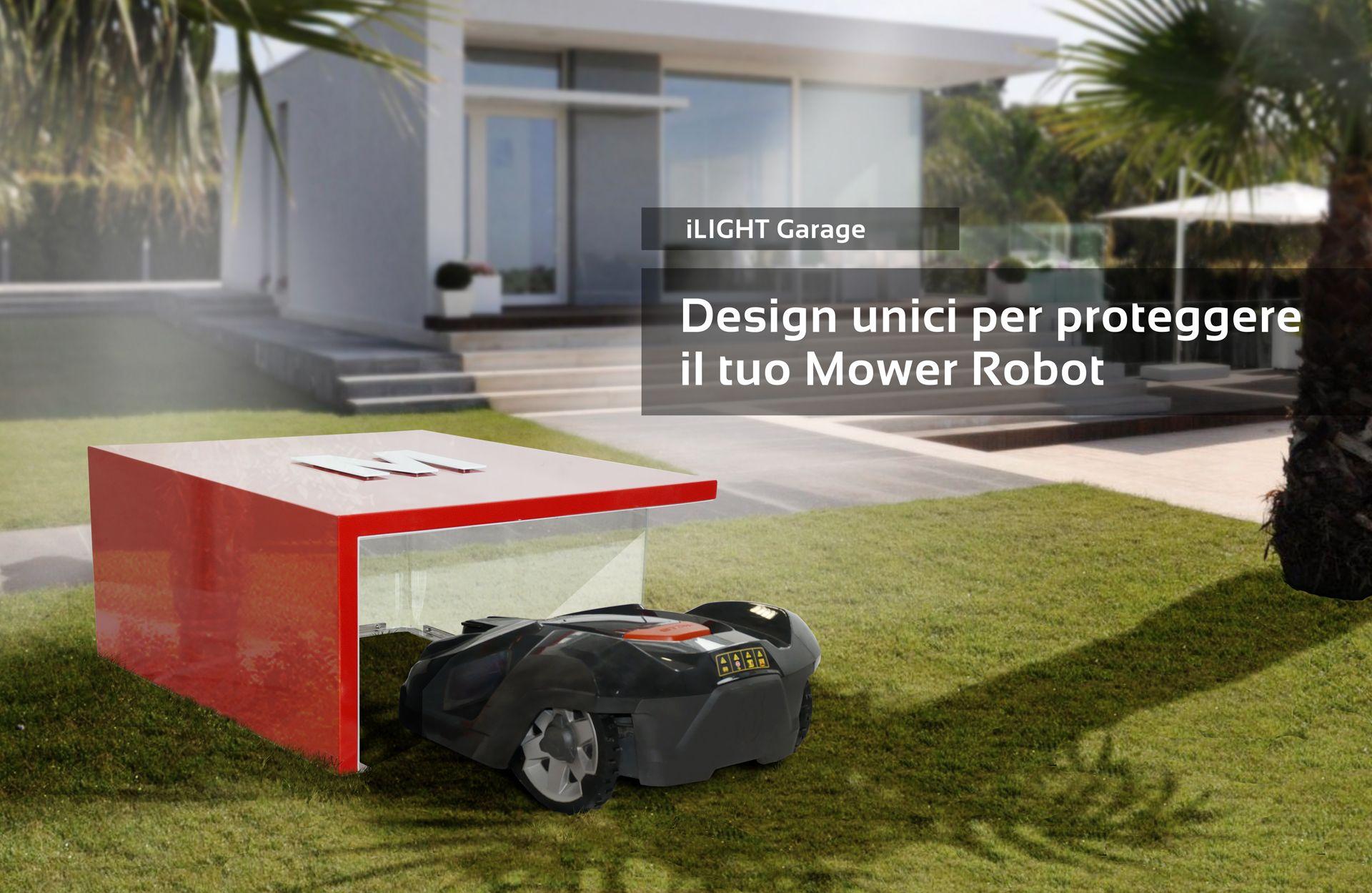 automower rasenm her roboter robotic lawn mower tondeuse robot garage design. Black Bedroom Furniture Sets. Home Design Ideas
