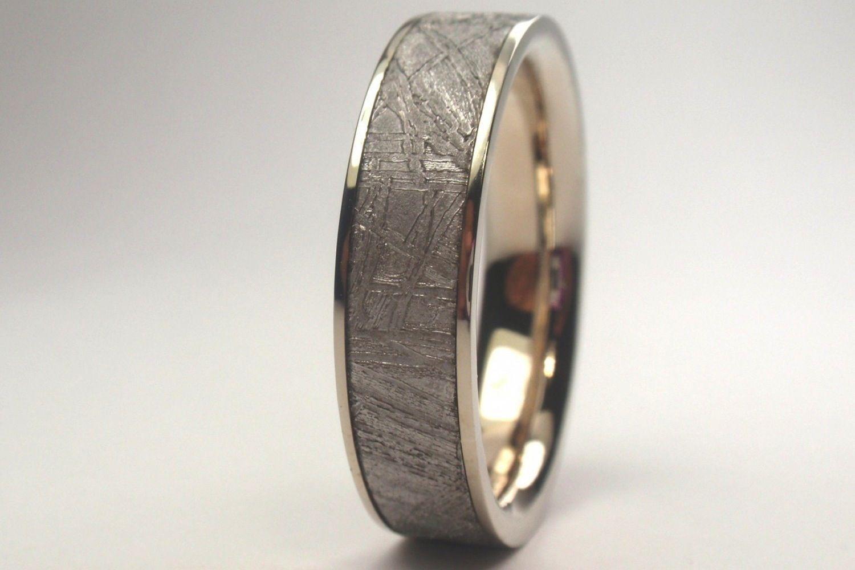 Palladium Mens Wedding Band Meteorite Wedding Band Mens Wedding Rings Rings For Men