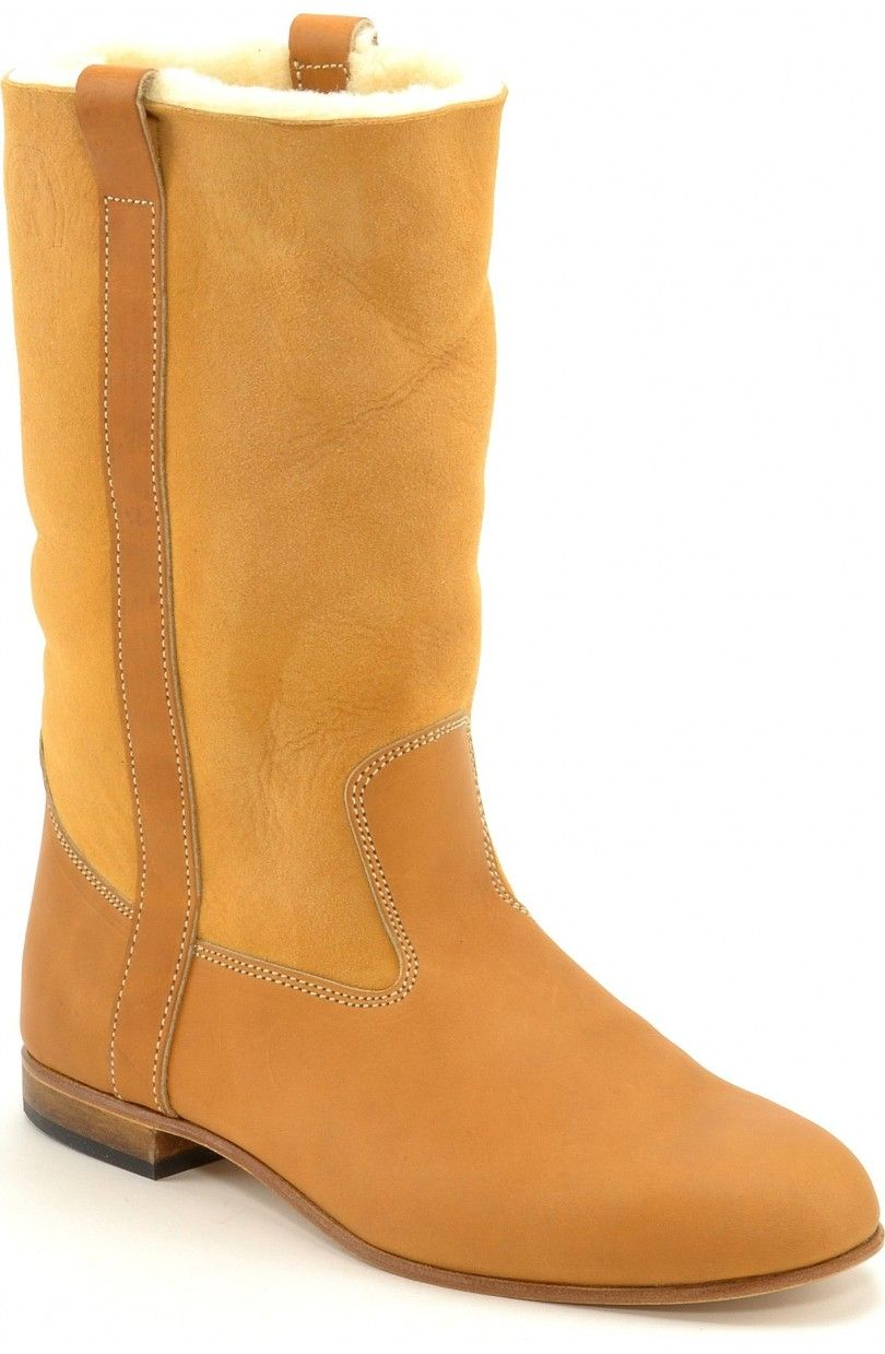 7808a7214f1 leather boots Ella calh sheep natural