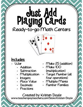 Math Card Games With Images Math Card Games Family Math Game