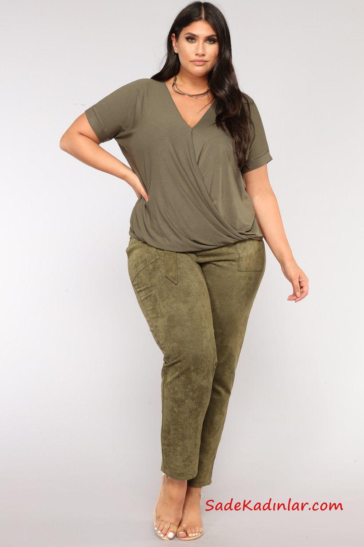 9ba7fd5974564 Büyük Beden Günlük Kıyafetler Yeşil Kuamş Pantolon Yeşil V Yaka Bluz Şeffaf  Stiletto Ayakkabı #moda #buyukbeden #fashion #fashionoutfits  #fashionblogger ...