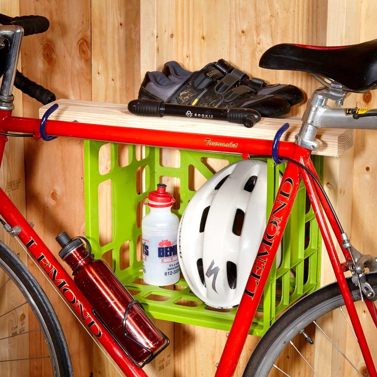 Storage Hack For Bike Gear Bike Storage Design Bike Storage
