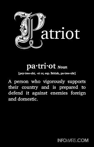 the definition of patriotism It used to be simpler during world war ii or when we landed a man on the moon, we swelled with national pride now, a patriotism gap separates us.