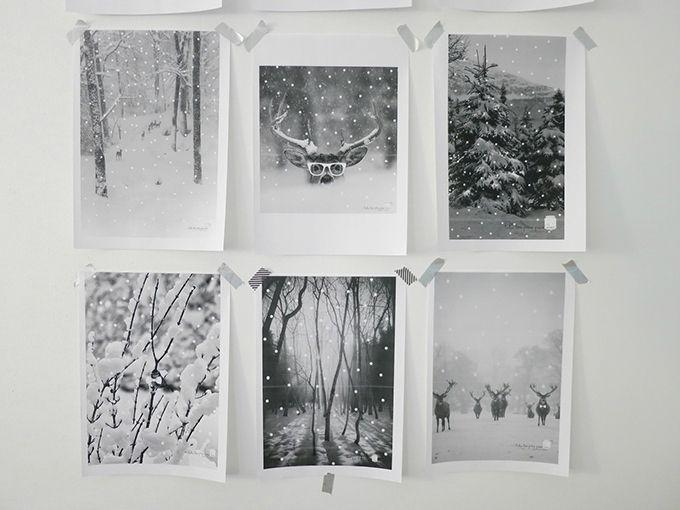 Printable - Visuels en noir & blanc de Noël / Christmas black & white printable pictures