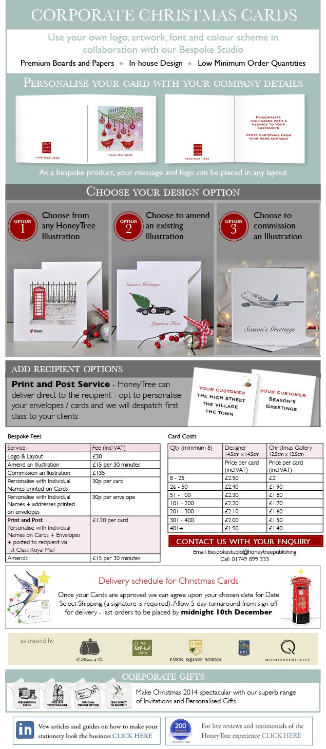 Corporate & Business Christmas Cards by Honeytree Publishing ...