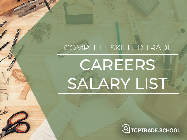 Salary List For Skilled Trade & Tech Jobs Physical