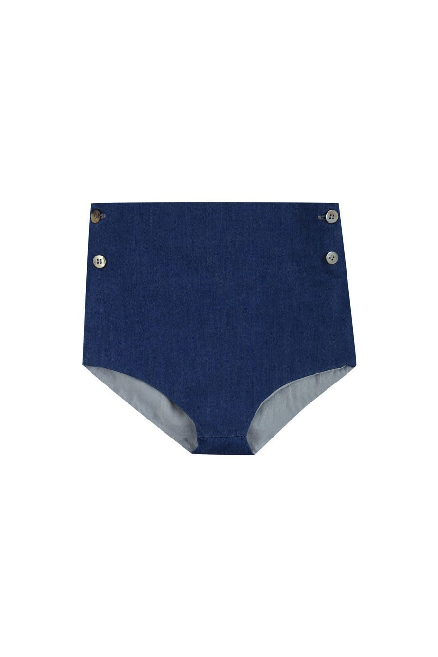 YELLOW PELOTA Denim West Culotte | petitfauve.com
