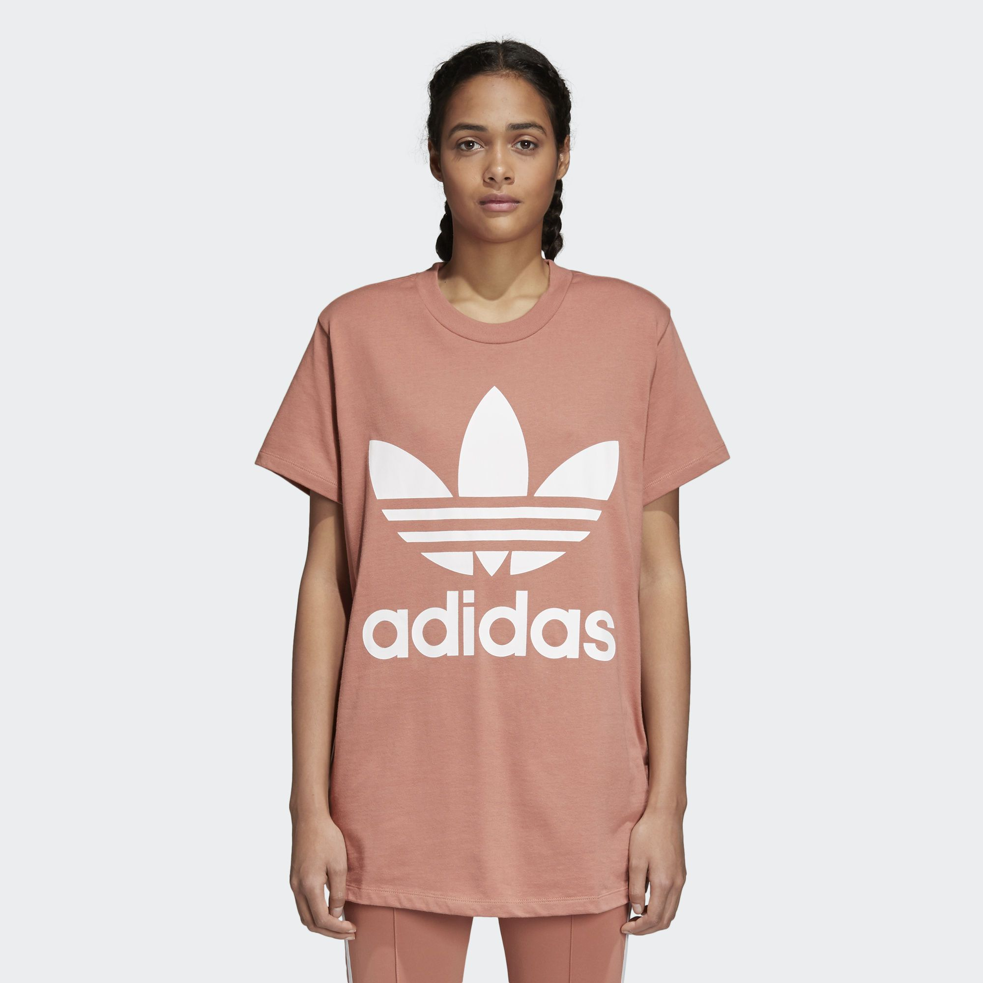 4c7a56a1a0 Shop the Trefoil Oversize Tee - Pink at adidas.com/us! See all the ...
