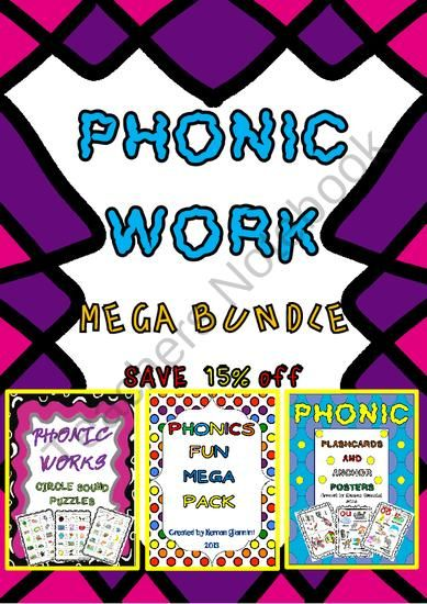 Phonic Work Mega Bundle (Save 15% off) 3 Products in 1! from Hugs in! on TeachersNotebook.com (177 pages)  - Here you will fin a Phonic Work Mega Bundle! 3 Products in 1 and at a low cost 15% OFF!