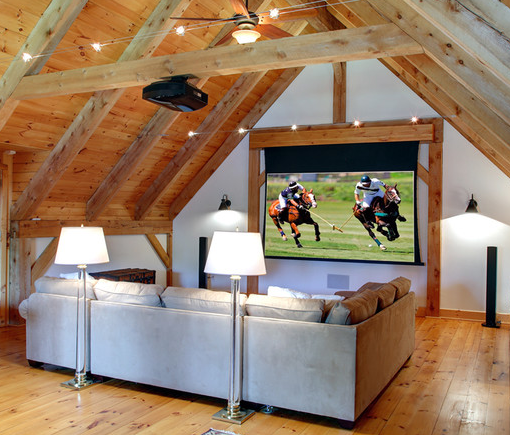 Attic Media Room: Great Attic Space For Sports Events And