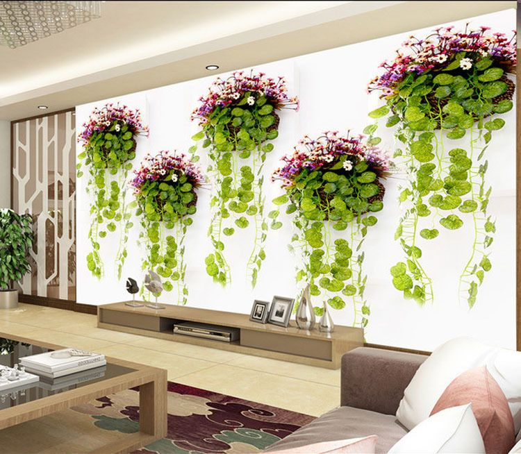Cheap Photo Wallpaper Buy Quality Green Directly From China Design Suppliers Natural Scenery Plants Wall