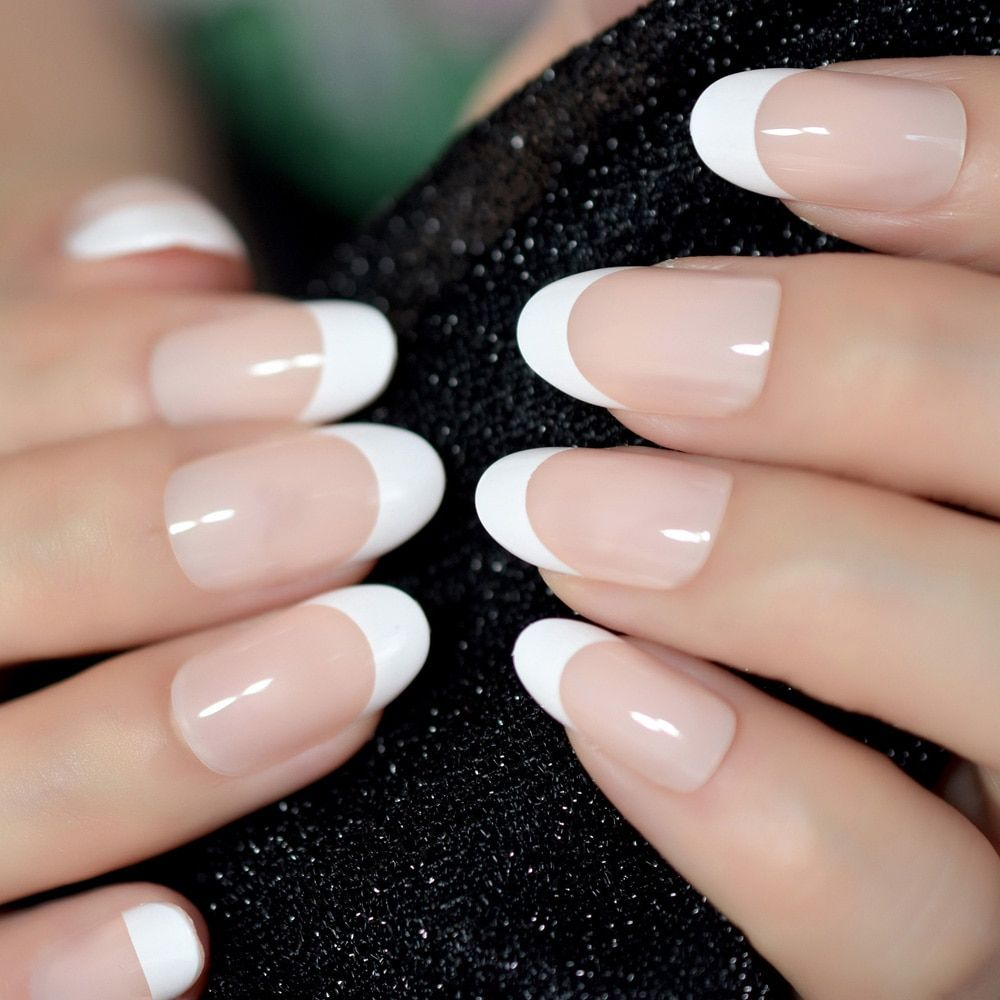 Cheap False Nails Buy Directly From China Suppliers Nail Art Salon Oval Acrylic French Nail Kit Real Medium Length G Fake Nails French French Nails Oval Nails