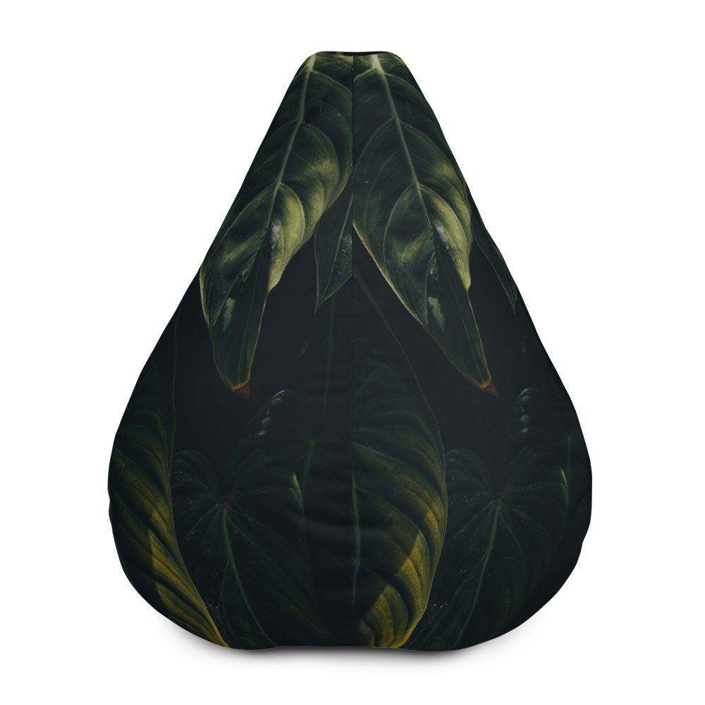 Bean Bag Chair W Filling Tropical Bean Bag Living Room Floor