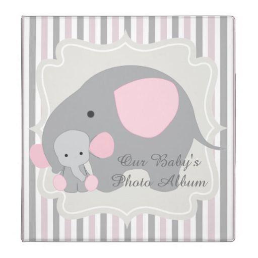 Gorgeous Custom Baby Pink Elephant Photo album Binder