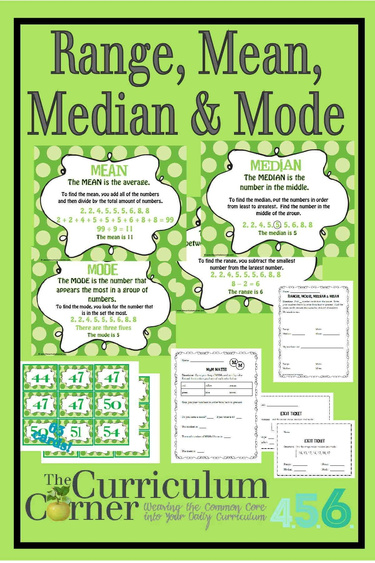 8 Official Mean Median Mode And Range Worksheets In