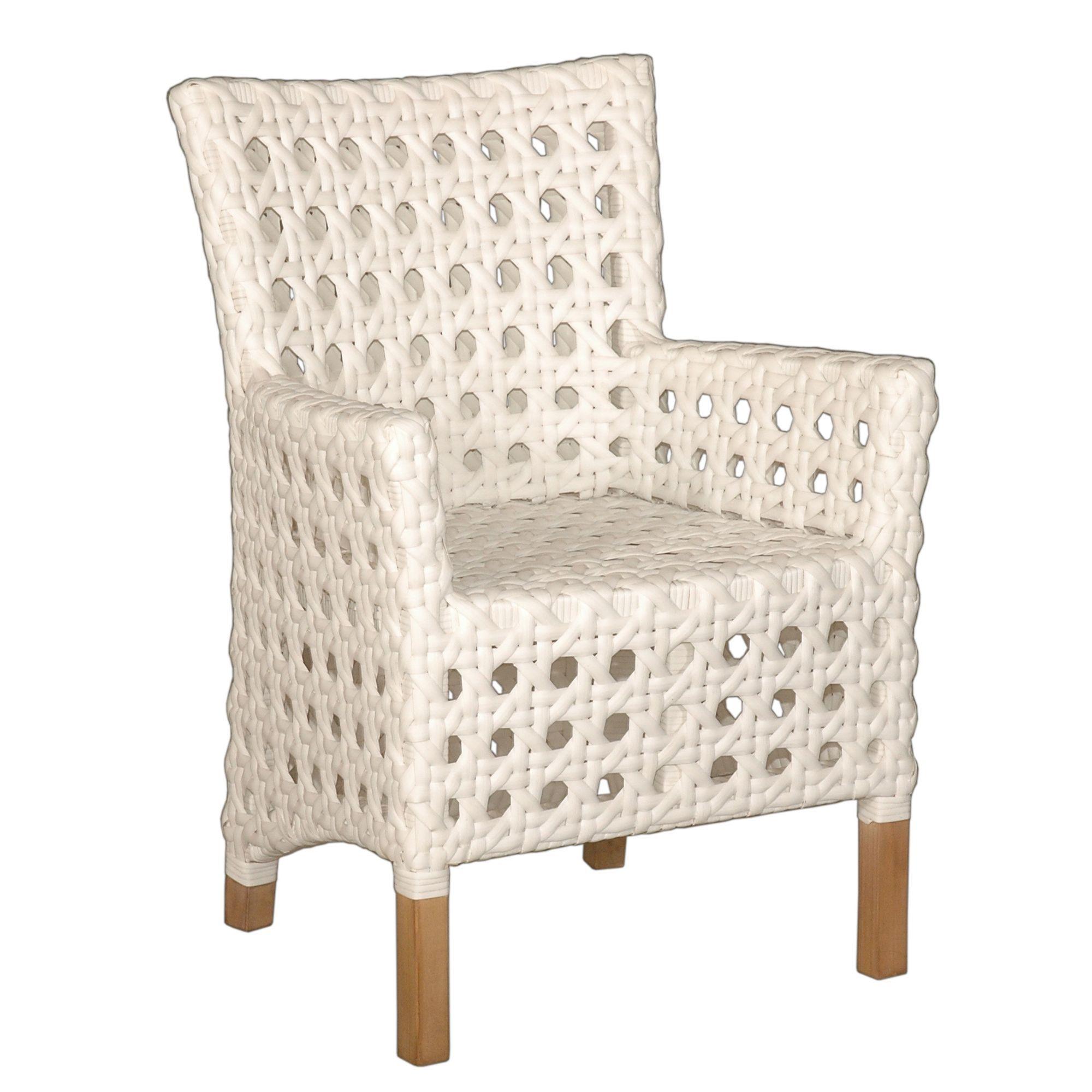 Crafted Home Decorative Sacramento White Modern IndoorOutdoor Chair