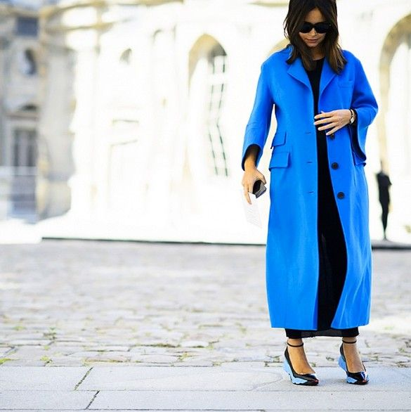 Channel in your inner fashion editor with a trench coat in your favorite indigo hue.