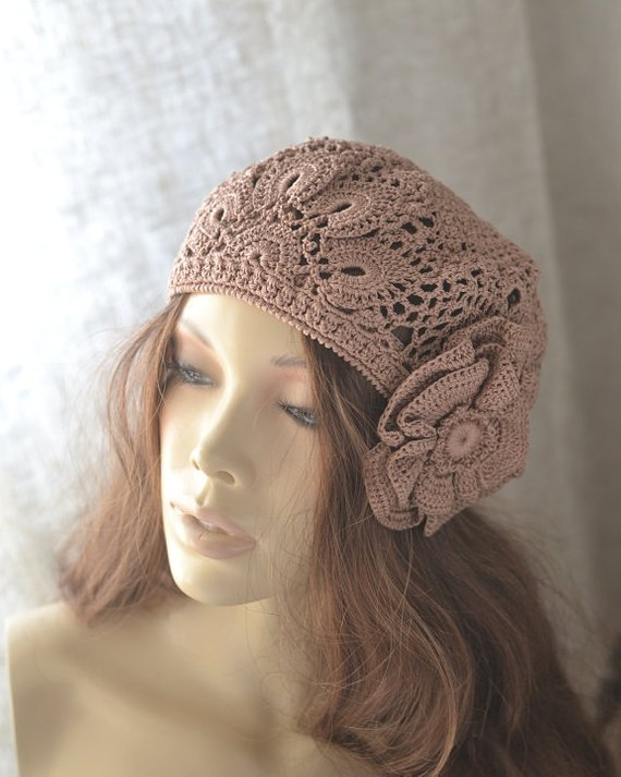 32e0dc92 French beret Summer beret French summer beret Crochet hat women Crochet  summer beret Summer hats wom