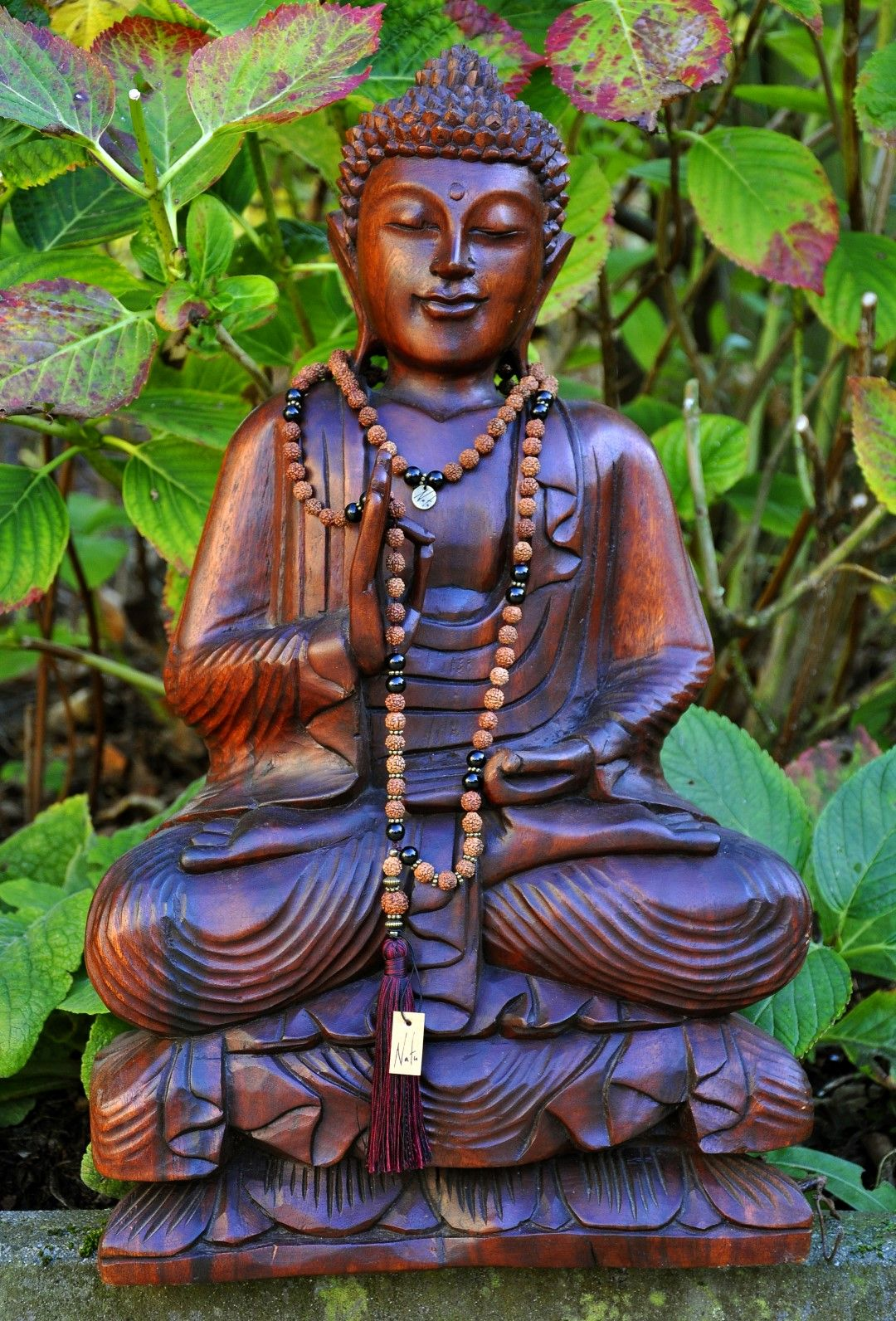 """Parvati"" mala necklace. Excellent fairtrade handmade design for yoga and meditation."