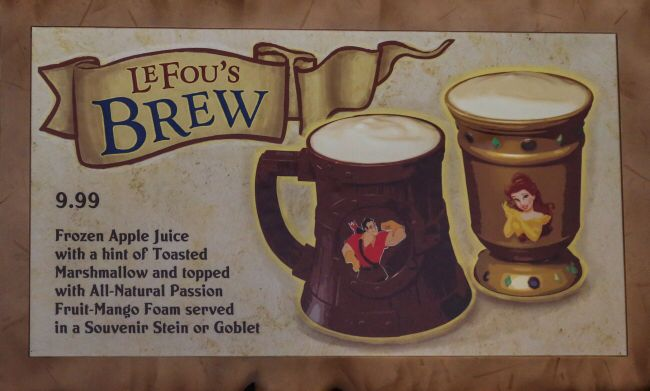 Lefou's Brew – Gaston's Tavern, Magic Kingdom  www.mickeytravels.com