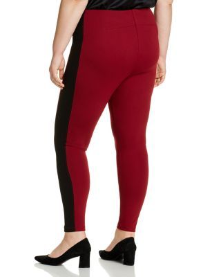 Lysse Plus Laura Striped Leggings - Red Night #stripedleggings