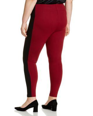 Lysse Plus Laura Striped Leggings - Red Night #stripedleggings