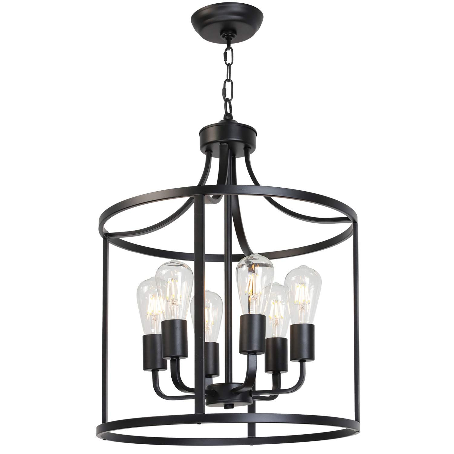 Vinluz Classic Chandeliers 6 Lights Foyer Pendant Light Black Rustic Farmhouse Lighti In 2020 Modern Ceiling Light Fixtures Modern Ceiling Light Foyer Pendant Lighting