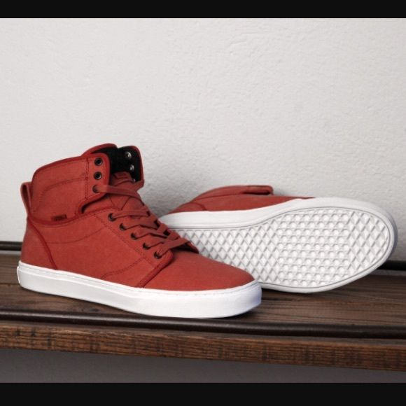 vans washed canvas red