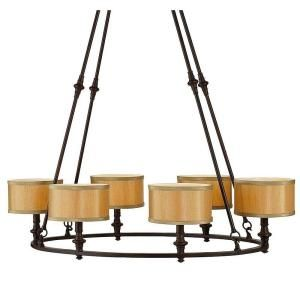 home decorators collection denholm collection 6 light bronze round chandelier 21092 022 at - Home Decorators Collection Lighting