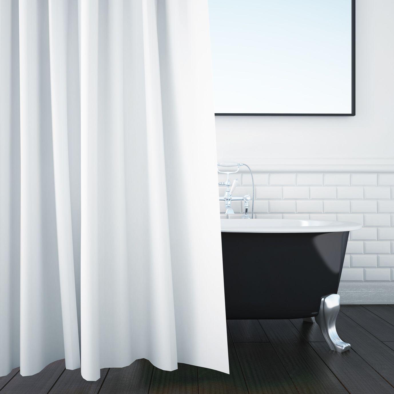 Duschvorhang reinigen 4 Tipps Duschvorhang, Dusche
